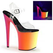 Sandália Rainbow 808 UV Transparente - Pleaser (encomenda)