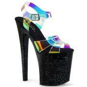 Sandália Xtreme 820 MMR Glitter Holográfica - Pleaser (encomenda)