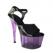 Sandália Zagreb Roxo NR 8US - Play Heels (pronta entrega)