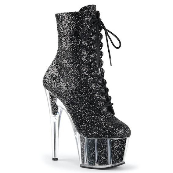 Bota Adore 1020 G Glitter Acrílico Ankle Boot  - Pleaser (encomenda)