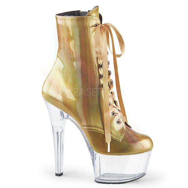 Bota Aspire 1020 BHG Holográfica Acrílico Ankle Boot - Pleaser (encomenda)