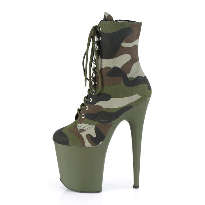 Bota Flamingo 1020 CAMO Militar Ankle Boot  - Pleaser (encomenda)