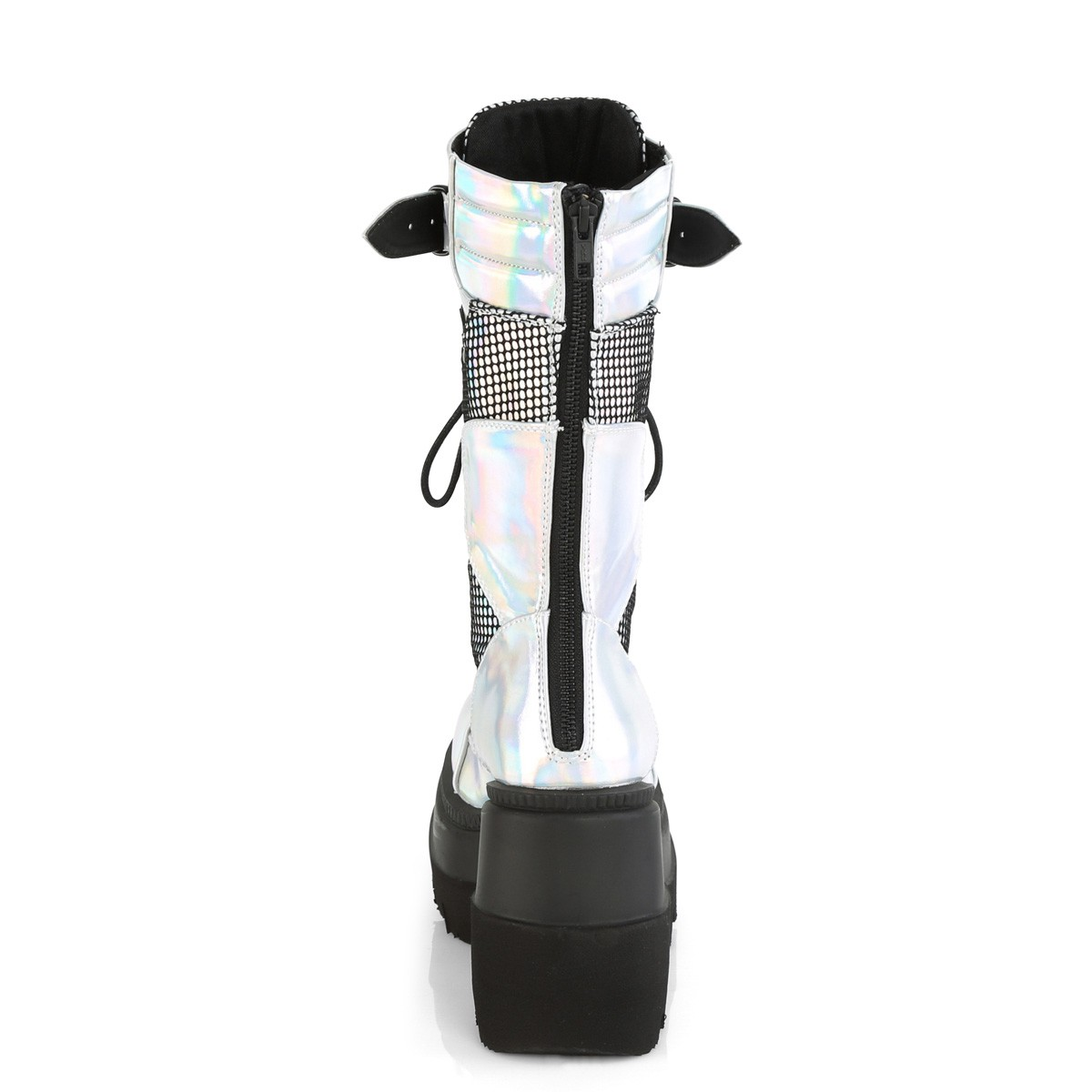 Bota Shaker 70 Prata Cano Médio - Demonia (encomenda)