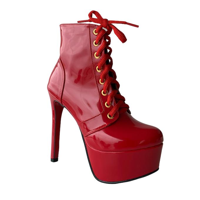 Bota Vitória Vermelho NR 6US - Play Heels (pronta entrega)