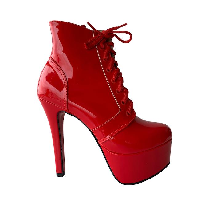 Bota Vitória Vermelho - Play Heels (encomenda)