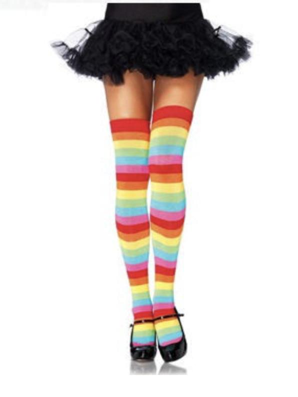 Meia 7/8 Arco Iris Rainbow - PlayPole (pronta entrega)