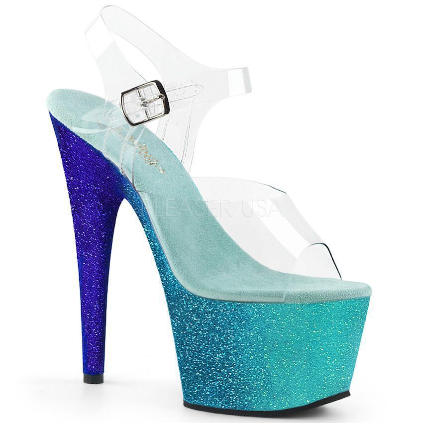 Sandália Adore 708 Ombre Glitter - Pleaser (encomenda)