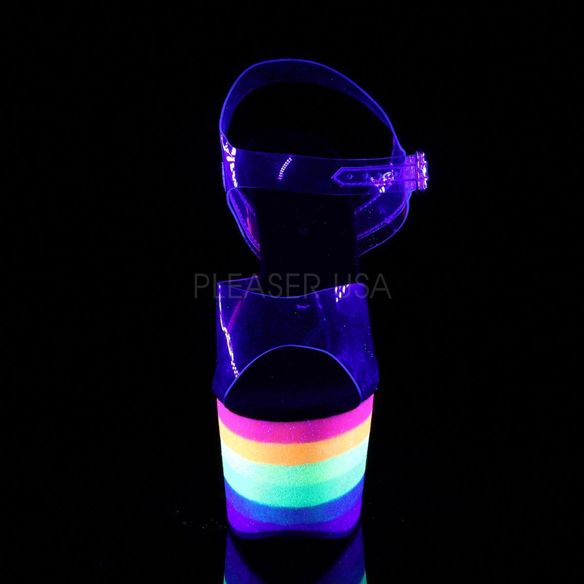 Sandália Adore 708 UV Rainbow Glitter - Pleaser (encomenda)