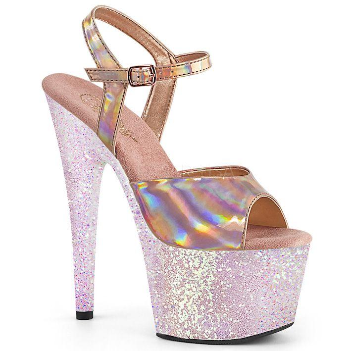 Sandália Adore 709 HGG Holográfica Glitter - Pleaser (encomenda)