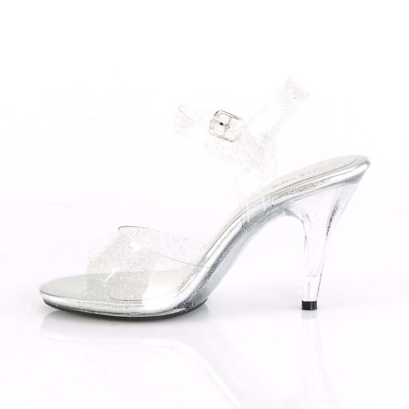 Sandália Caress 408 MMG Clear Glitter - Fabulicious (encomenda)