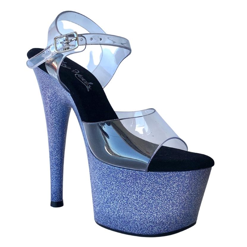 Sandália Del Diablo Glitter Roxo NR 34-35 BR / 6US - Play Heels (pronta entrega)