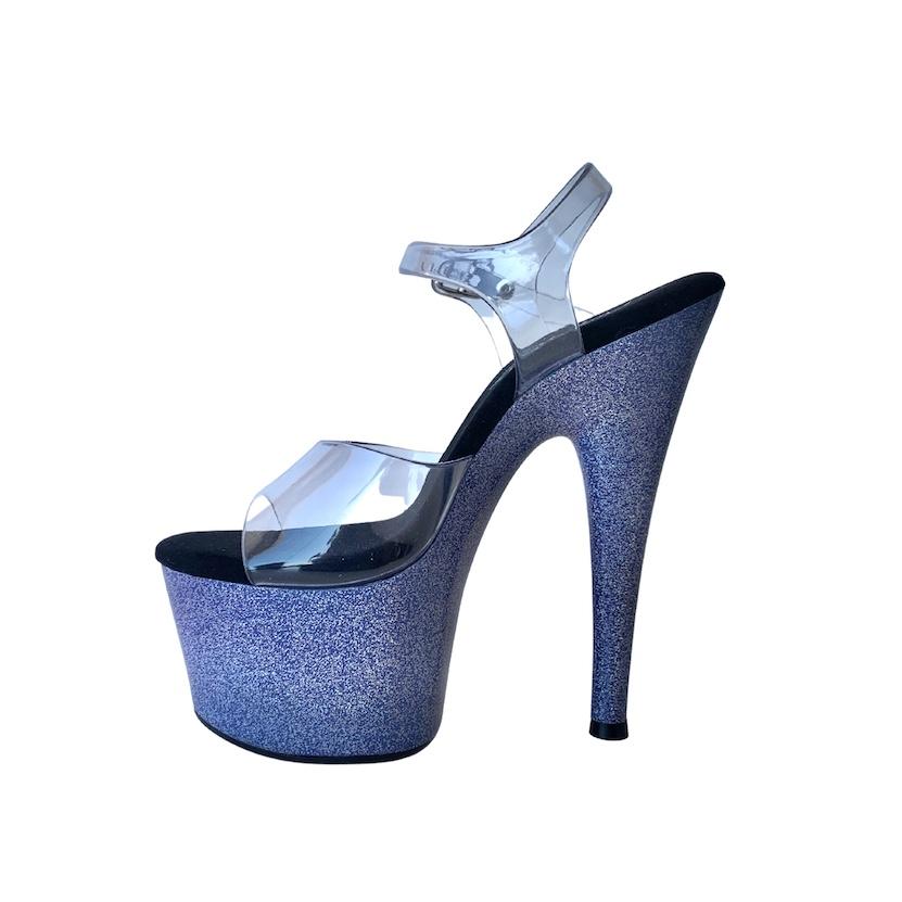 Sandália Del Diablo Glitter Roxo NR 6US - Play Heels (pronta entrega)