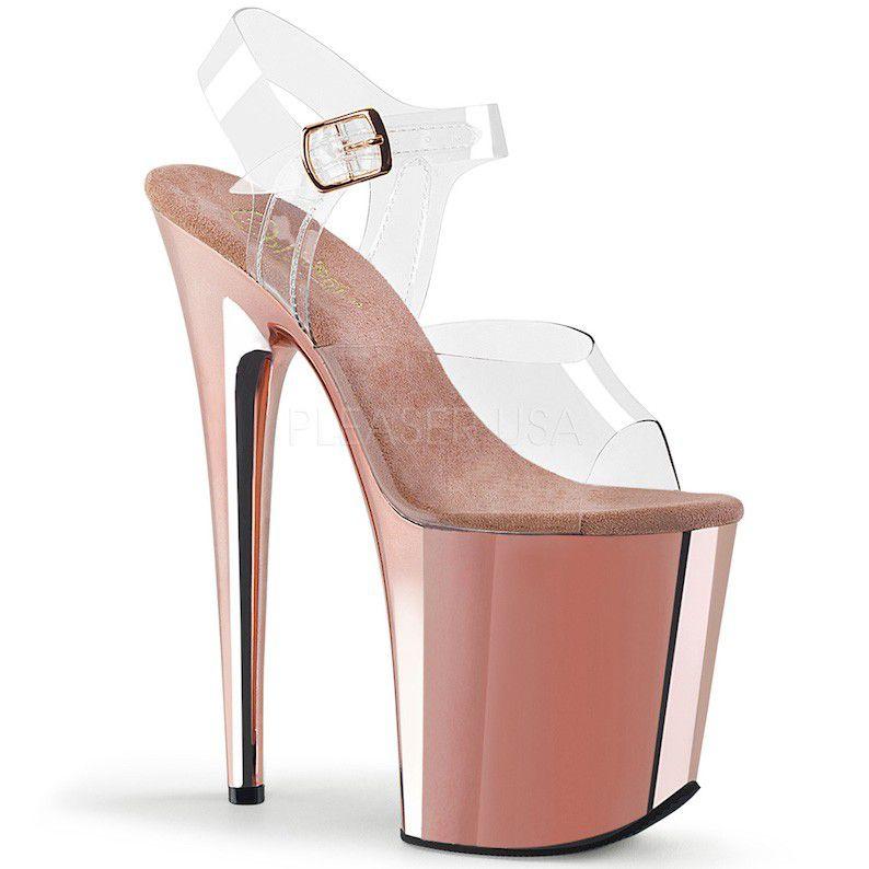 Sandália Flamingo 808 Crome - Pleaser (encomenda)