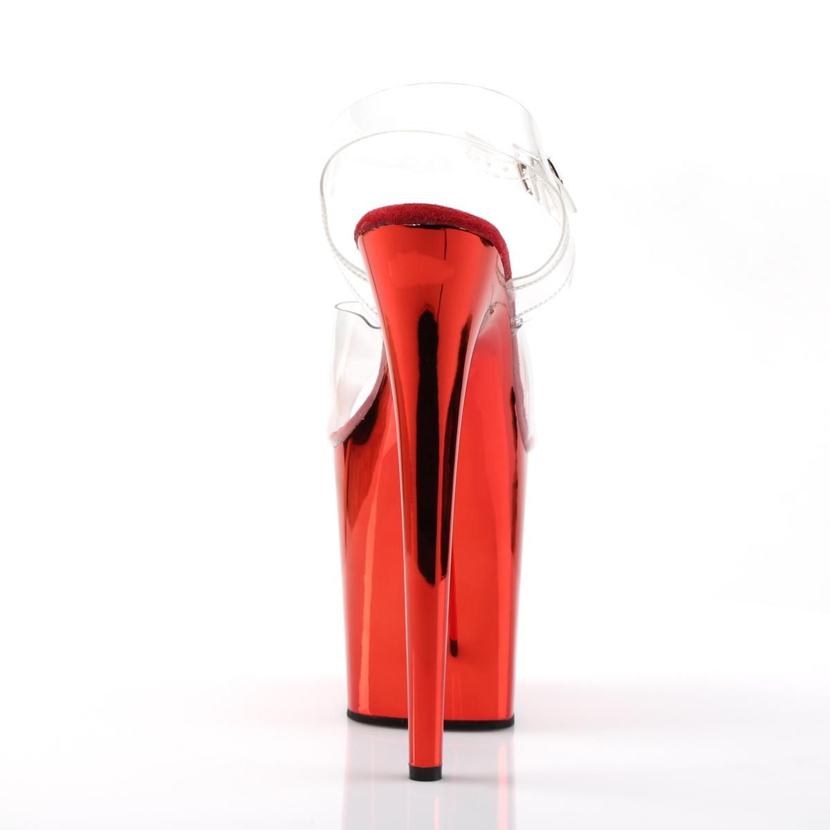 Sandália Flamingo 808 Crome Vermelho NR 10US - Pleaser (pronta entrega)