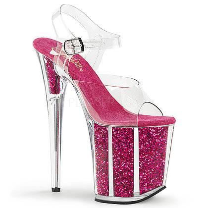 Sandália Flamingo 808 G Glitter Acrílico - Pleaser (encomenda)