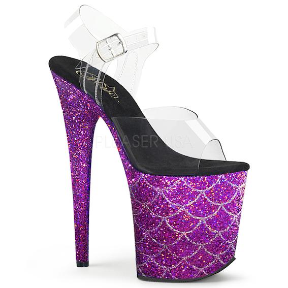 Sandália Flamingo 808 MSLG Mermaid Glitter - Pleaser (encomenda)