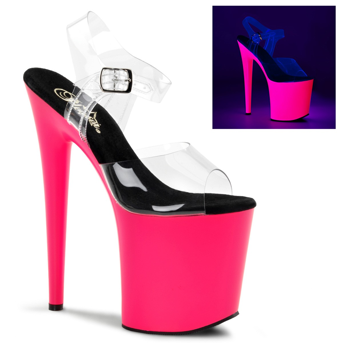 Sandália Flamingo 808 UV Pink - Pleaser (encomenda)