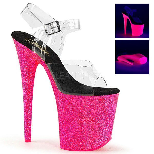 Sandália Flamingo 808 UVG Glitter Pink - Pleaser (encomenda)