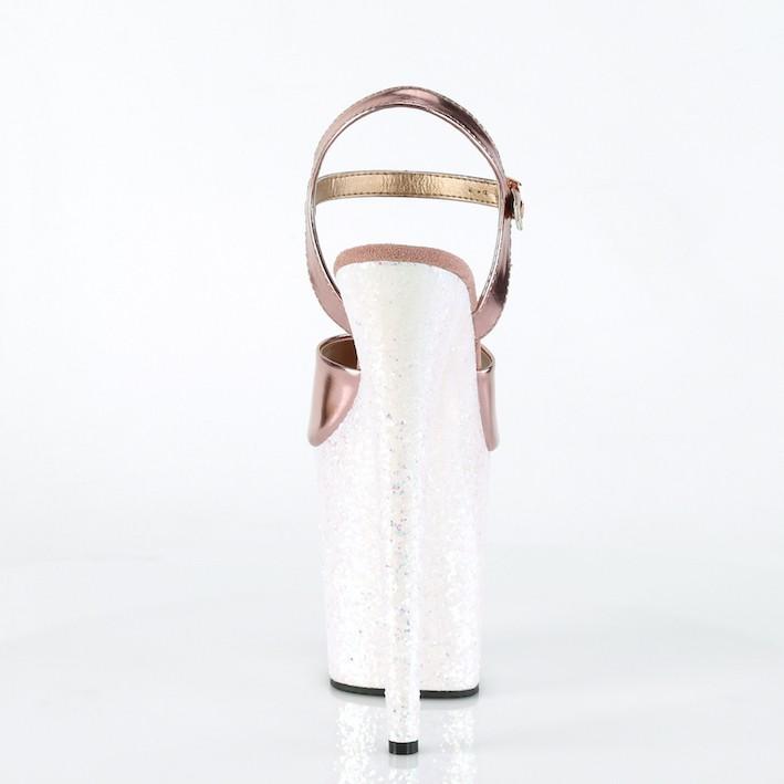 Sandália Flamingo 809 LG Glitter Crome NR 5US - Pleaser (pronta entrega)