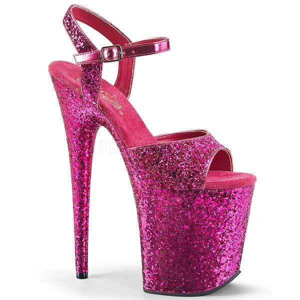 Sandália Flamingo 810 LG All Glitter - Pleaser (encomenda)