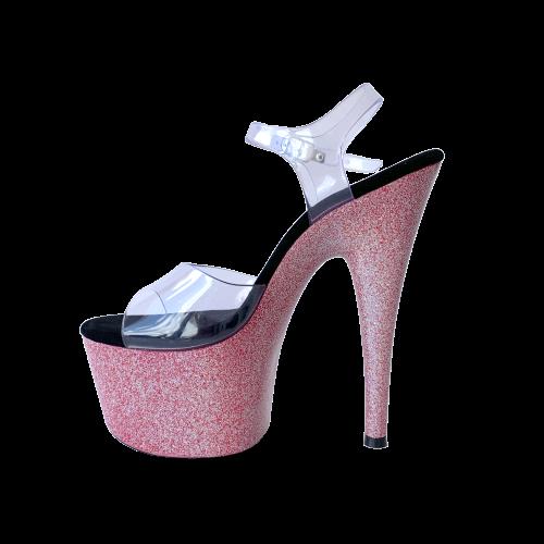 Sandália Del Diablo Glitter Pink NR 7US - Play Heels (pronta entrega)