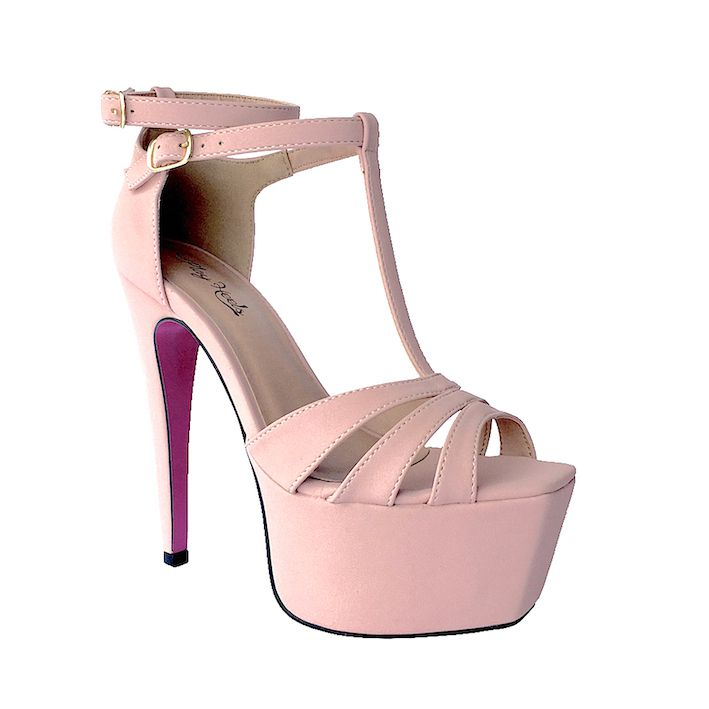 Sandália Grace Rose Brilho NR 36 - Play Heels (pronta entrega)