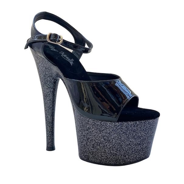 Sandália Muse Glitter Preto - Play Heels (encomenda)