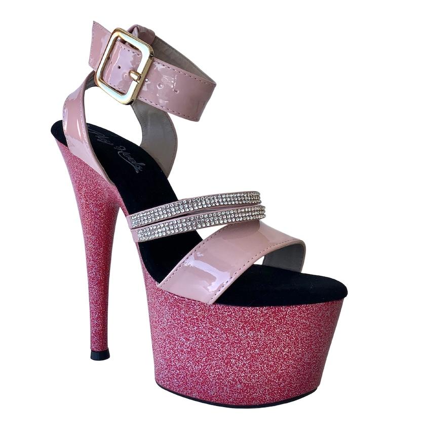 Sandália Paris Pink NR 36-37 BR / 8US - Play Heels (pronta entrega)