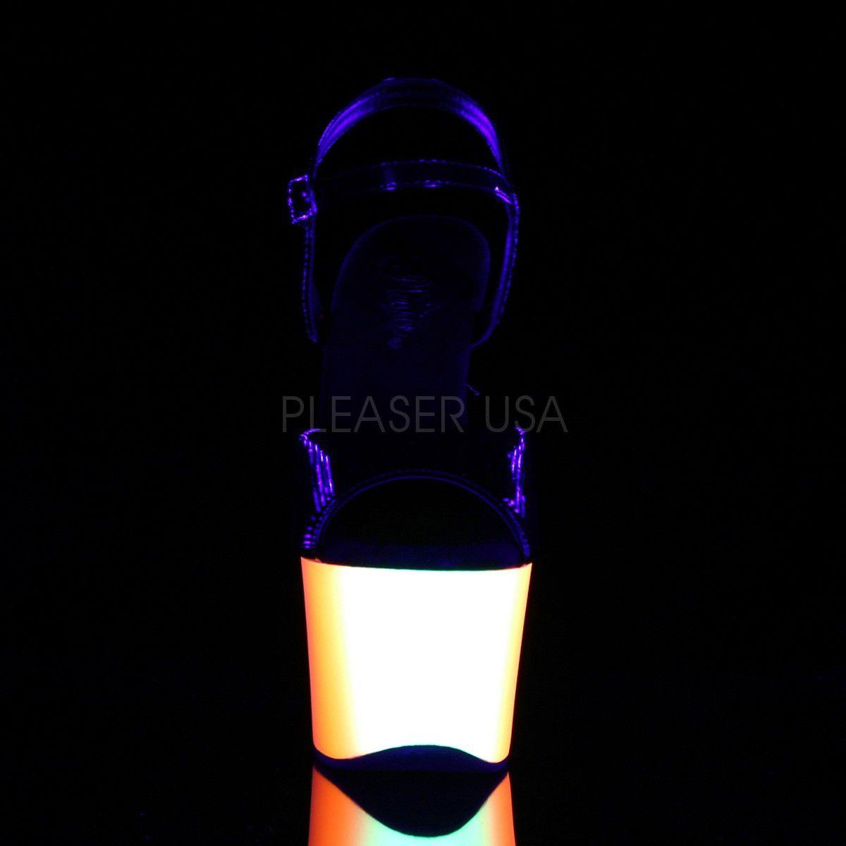 Sandália Rainbow 309 UV Preta - Pleaser (encomenda)