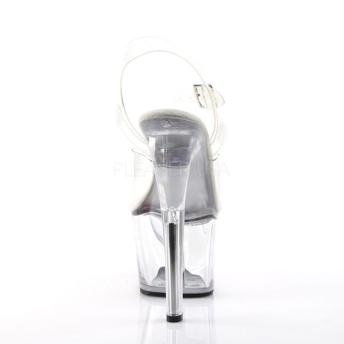 Sandália Sky 308 Acrilico Clear - Pleaser (encomenda)