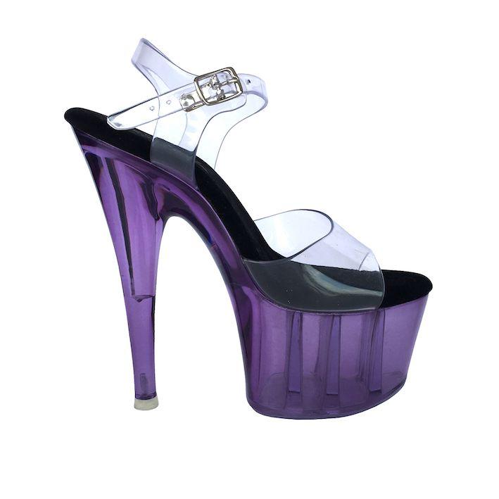 Sandália Split Roxo NR 5US - Play Heels (pronta entrega)
