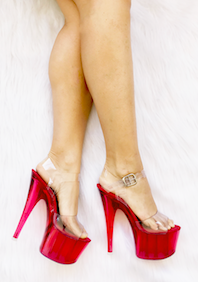 Sandália Split Vermelho NR 6US - Play Heels (pronta entrega)