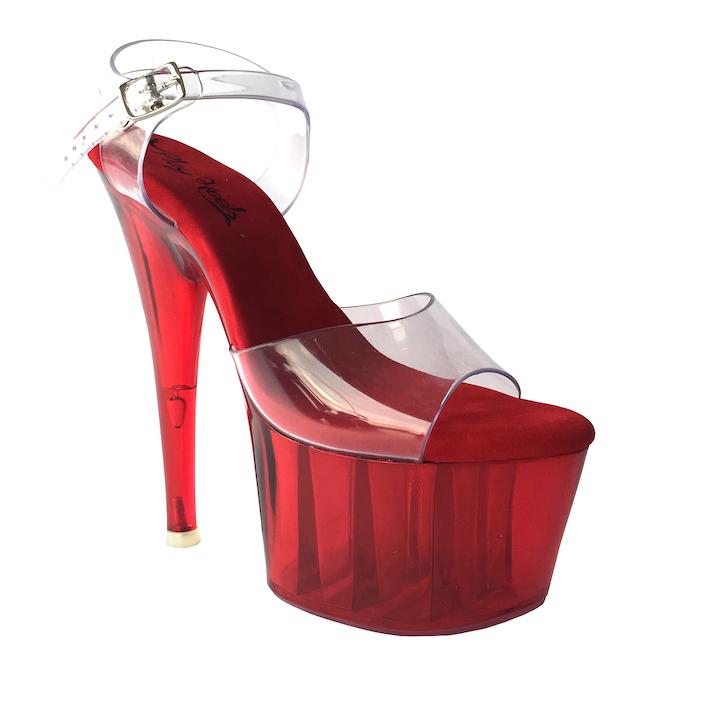 Sandália Split Vermelho - Play Heels (encomenda)