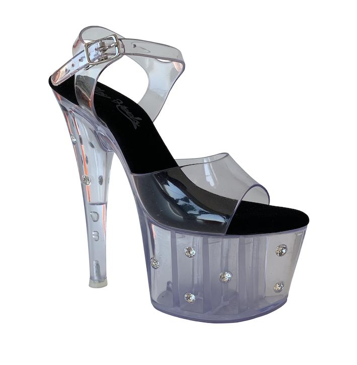 Sandália Strass Clear NR 6US - Play Heels (pronta entrega)
