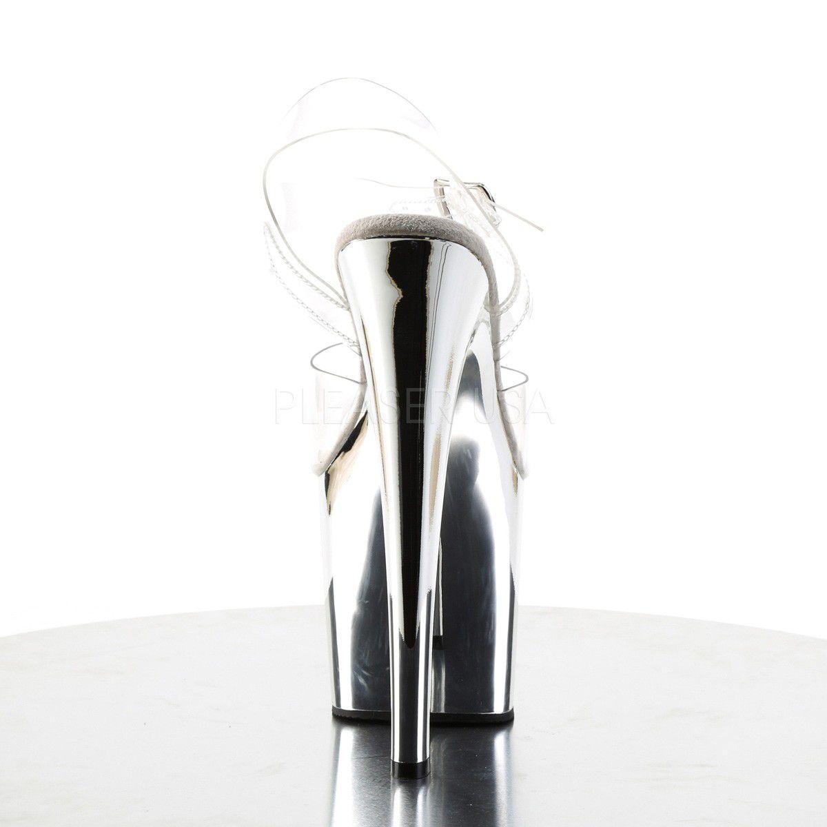 Sandália Taboo 708 Crome - Pleaser (encomenda)