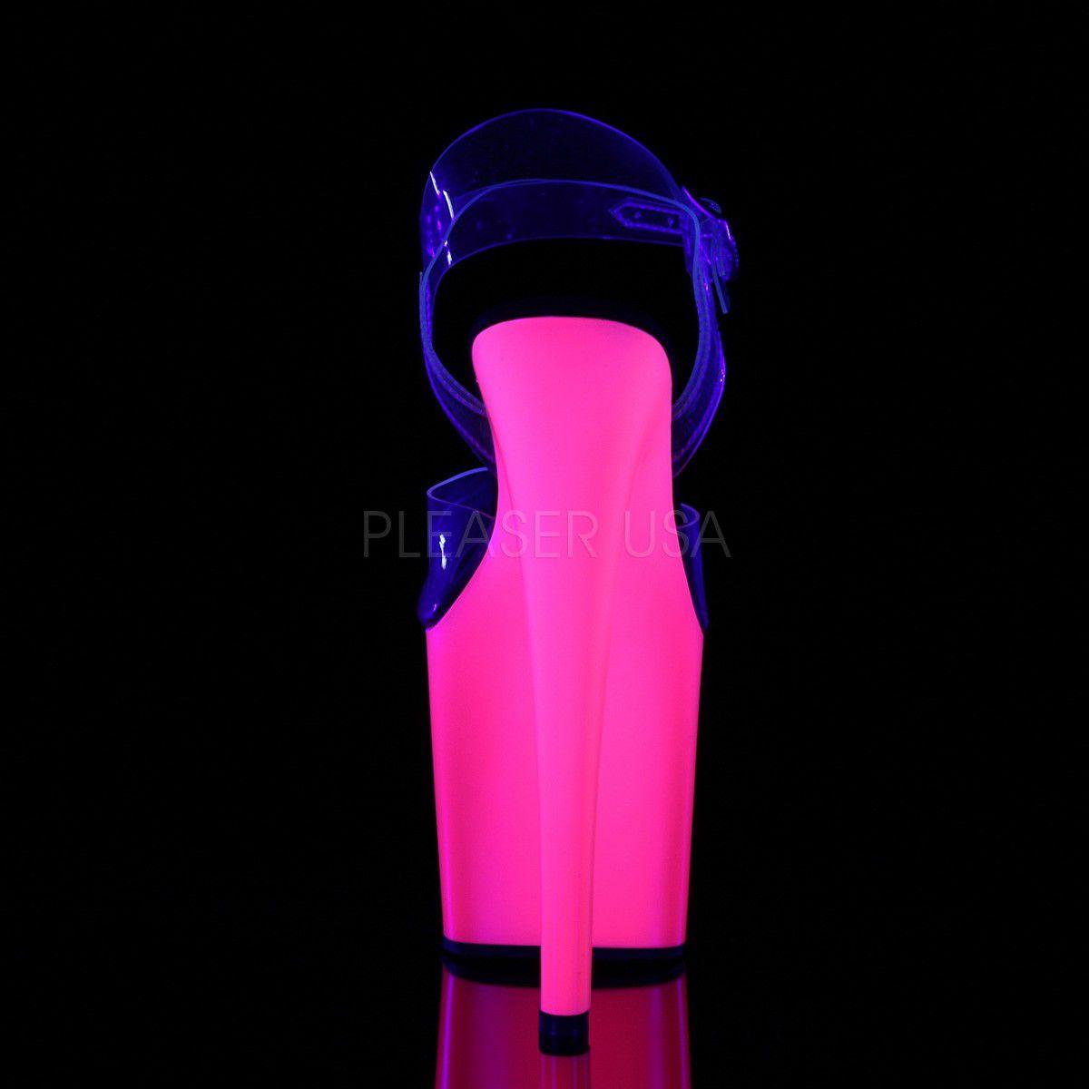 Sandália Taboo 708 UV Pink - Pleaser (encomenda)
