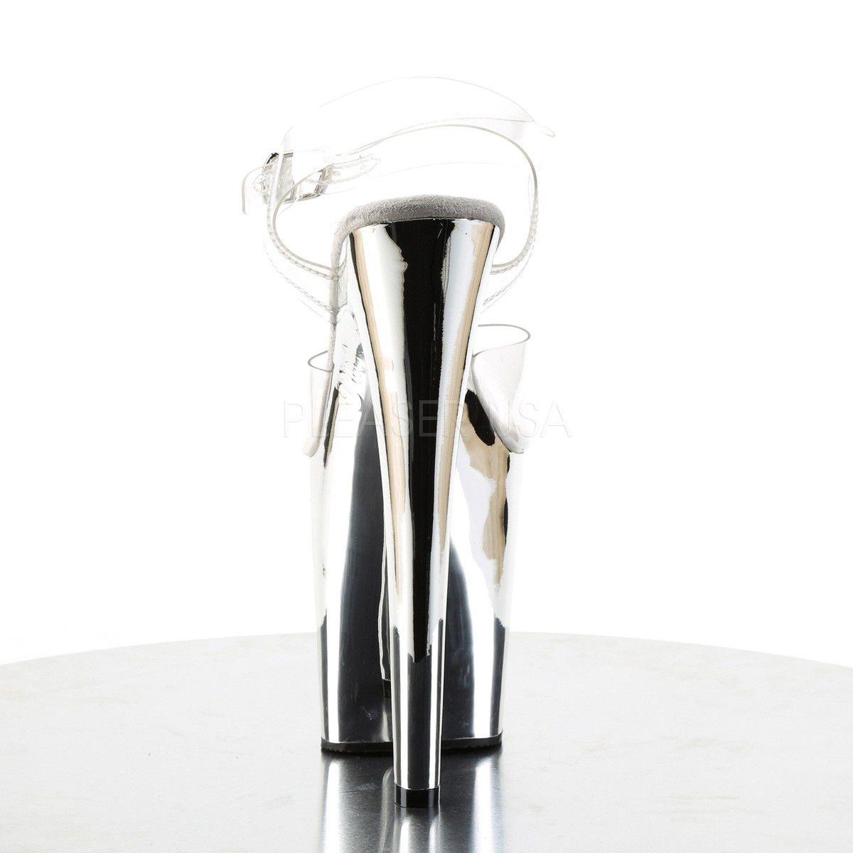 Sandália Xtreme 808 Crome - Pleaser (encomenda)