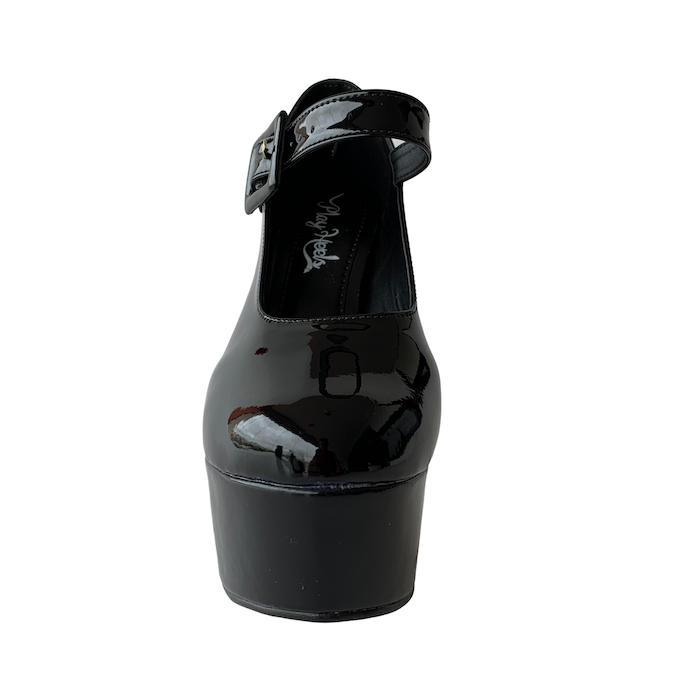 Sapato Boneca Preto com Sola Vermelha NR 7US - Play Heels (pronta entrega)