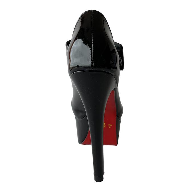Sapato Boneca Preto com Sola Vermelha - Play Heels (encomenda)