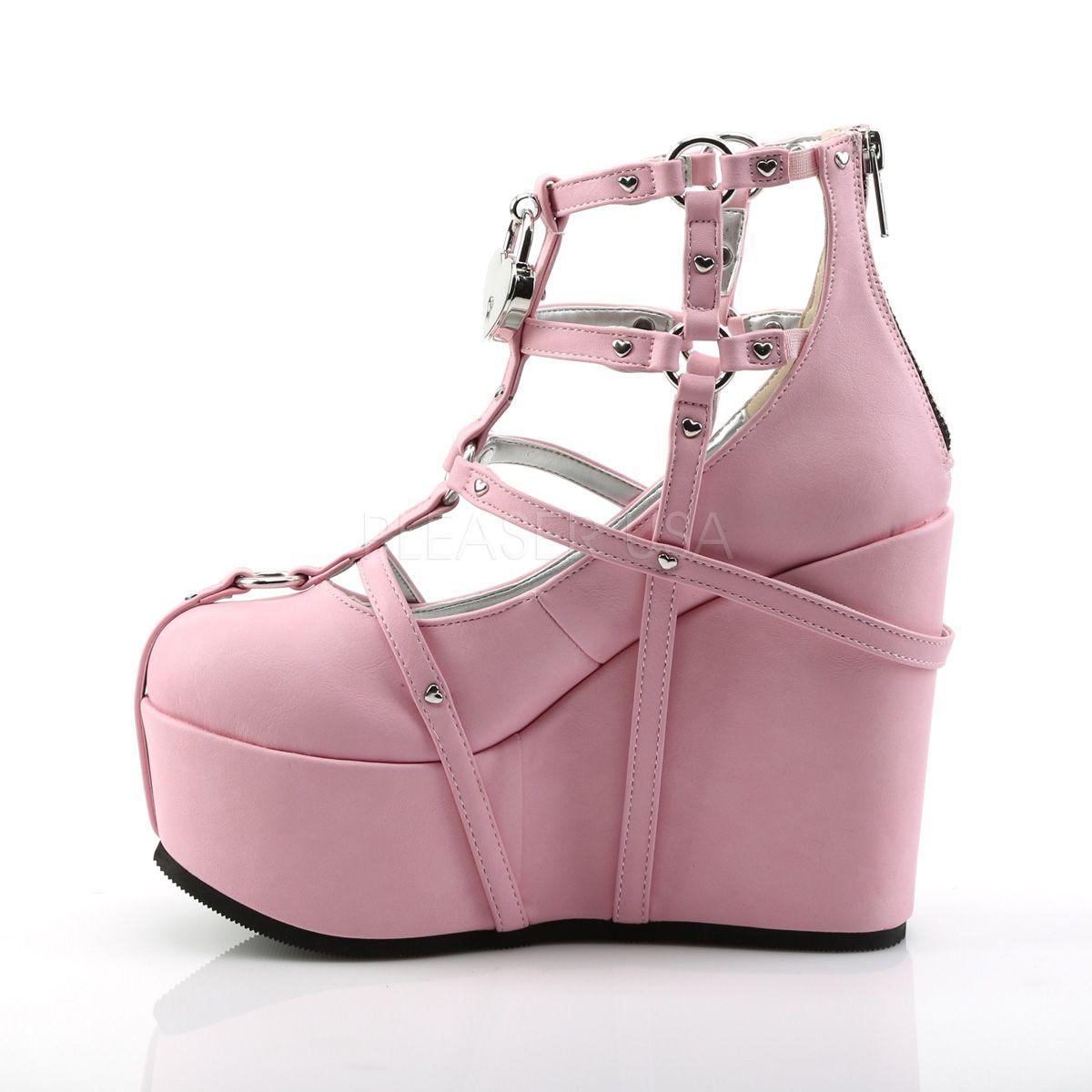 Sapato Poison 25-2 Baby Pink - Demonia (encomenda)