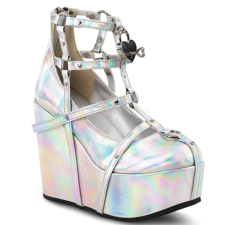 Sapato Poison 25-2 Hologram - Demonia (encomenda)