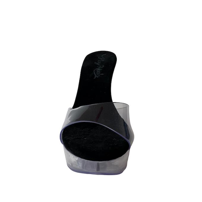 Tamanco Queen Acrílico Clear NR 11US - Play Heels (pronta entrega)