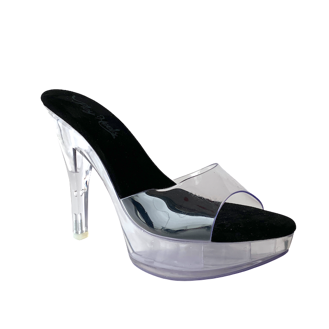 Tamanco Queen Acrílico Clear - Play Heels (encomenda)