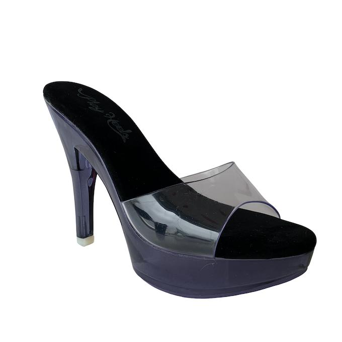 Tamanco Queen Acrílico Fumê NR 9US - Play Heels (pronta entrega)