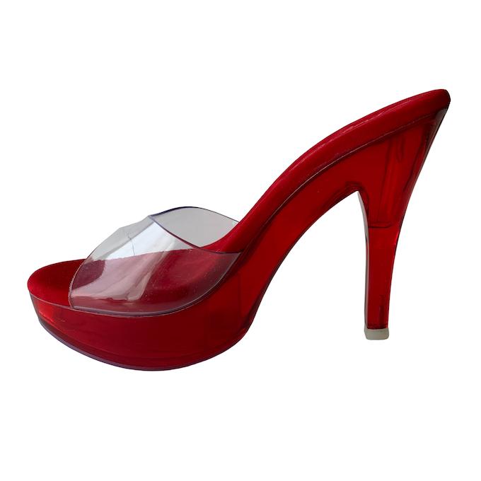 Tamanco Queen Acrílico Vermelho - Play Heels (encomenda)