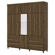 Guarda Roupa Triton Plus com Espelho 11 Portas 6 Gavetas Cedro - Albatroz