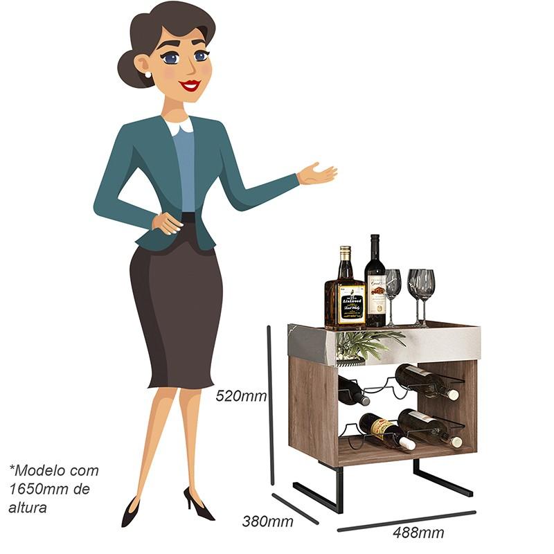 Adega Para Vinhos com Espelho 6 Garrafas Viena - Home Design