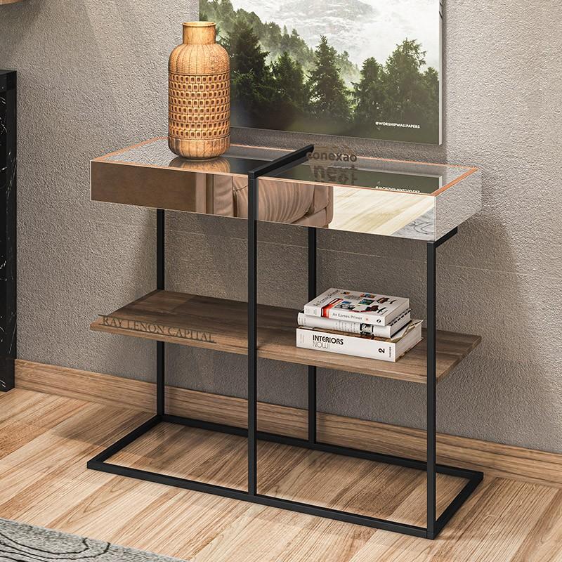 Balcão Aparador Para Sala de Estar com Espelho Viena - Home Design