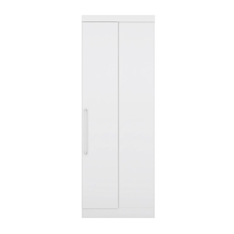 Armário de Canto Reto Modulado 1 Porta Modena Branco - Demóbile