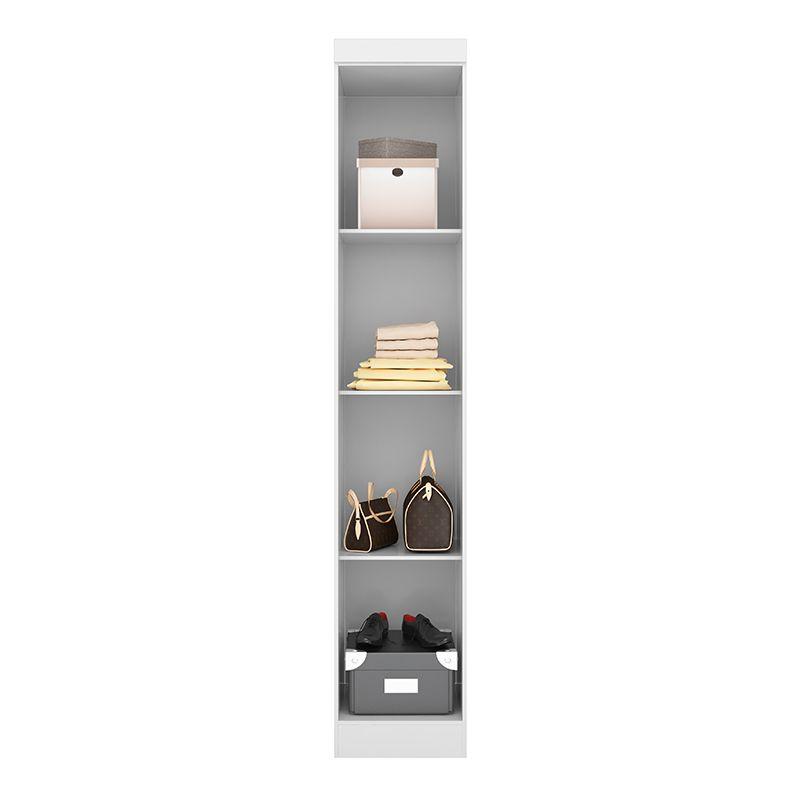 Armário Modulado 1 Porta com 3 Prateleiras Modena Branco - Demóbile